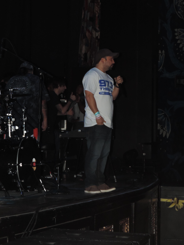 Jesse Salazar addresses the crowd