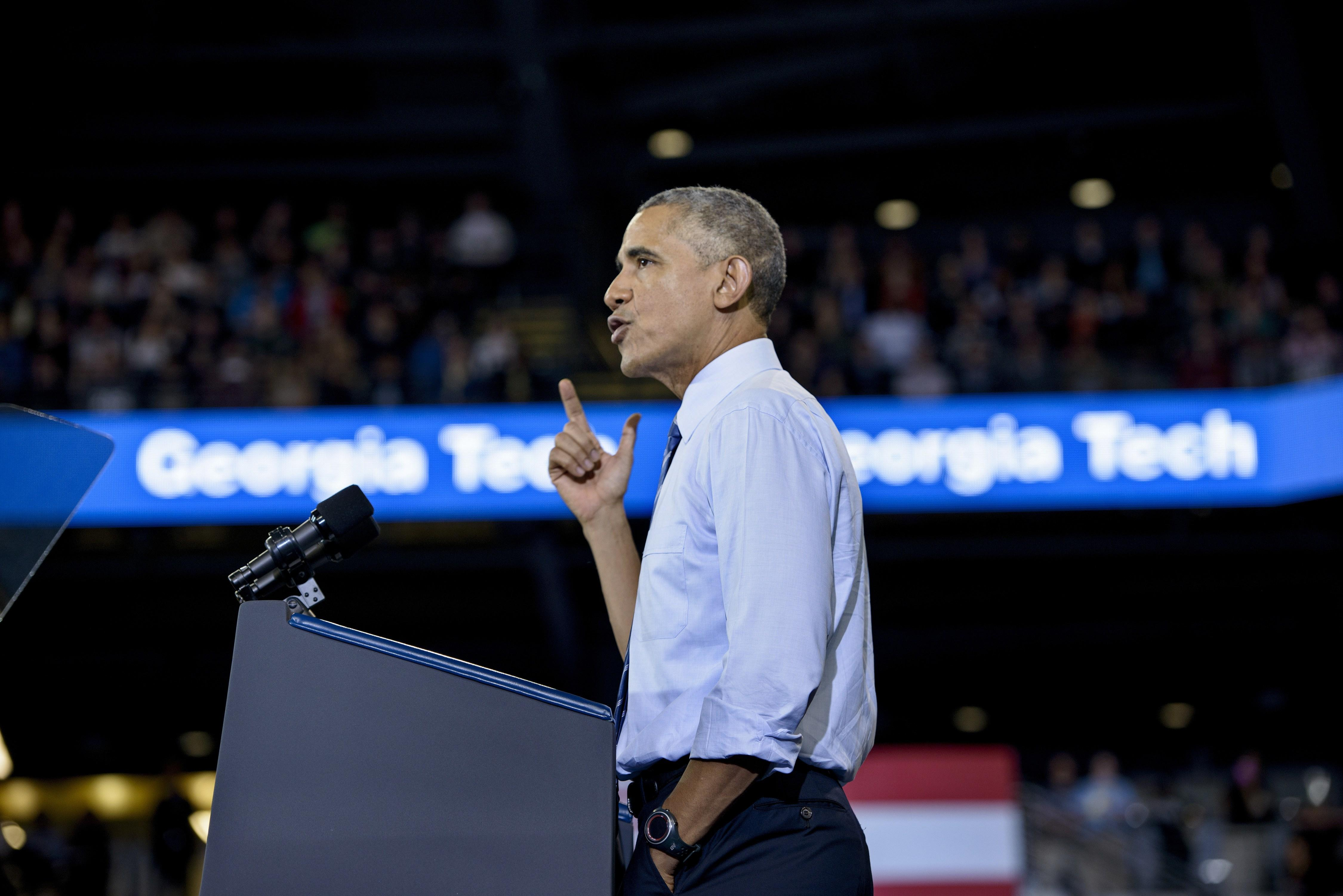 President Obama Speaks at Georgia Tech