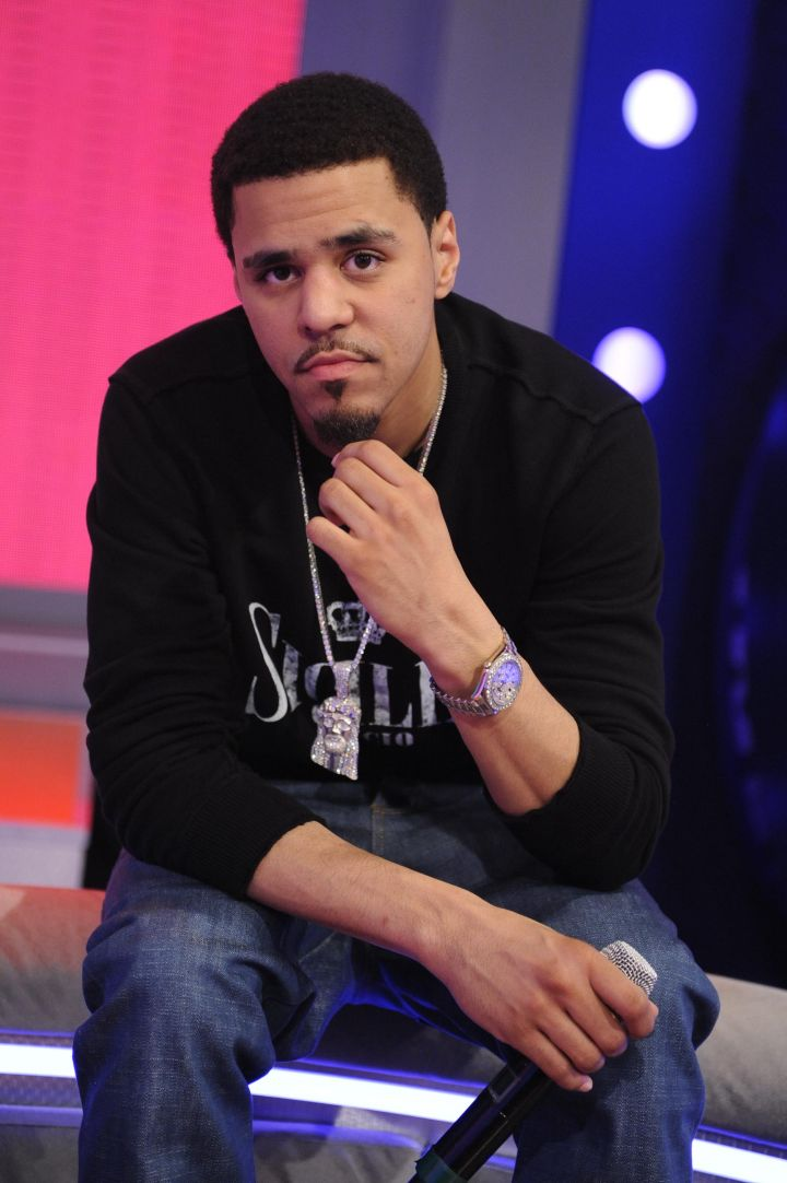J. Cole And Kelly Rowland Visit BET's '106 & Park'