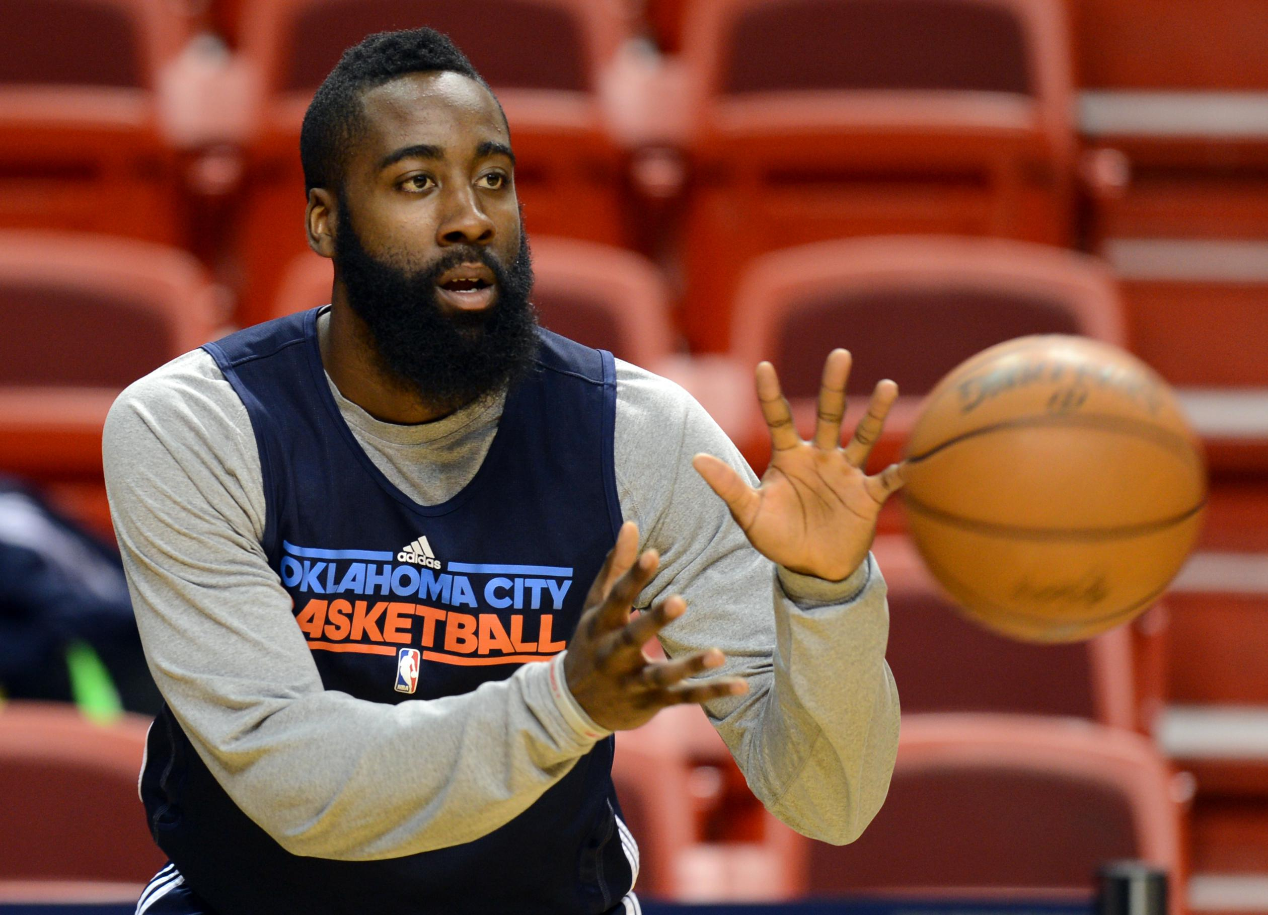 Oklahoma City Thunder James Harden durin