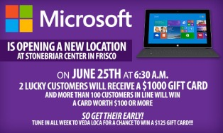 MICROSOFT IS OPENING A NEW LOCATION AT STONEBRIAR CENTER