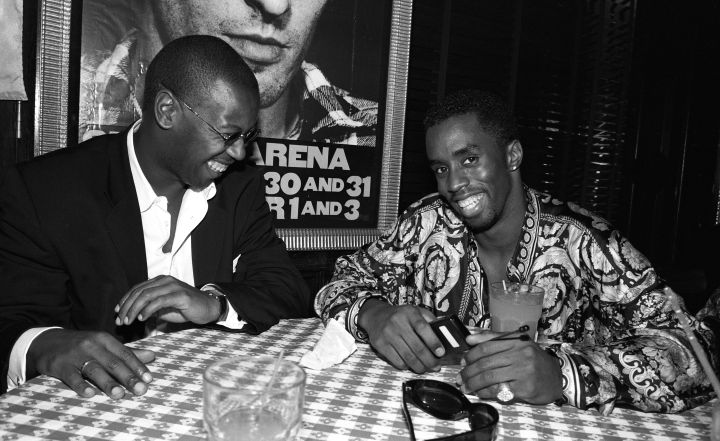 p. diddy & Andre Harrell at urban aid party