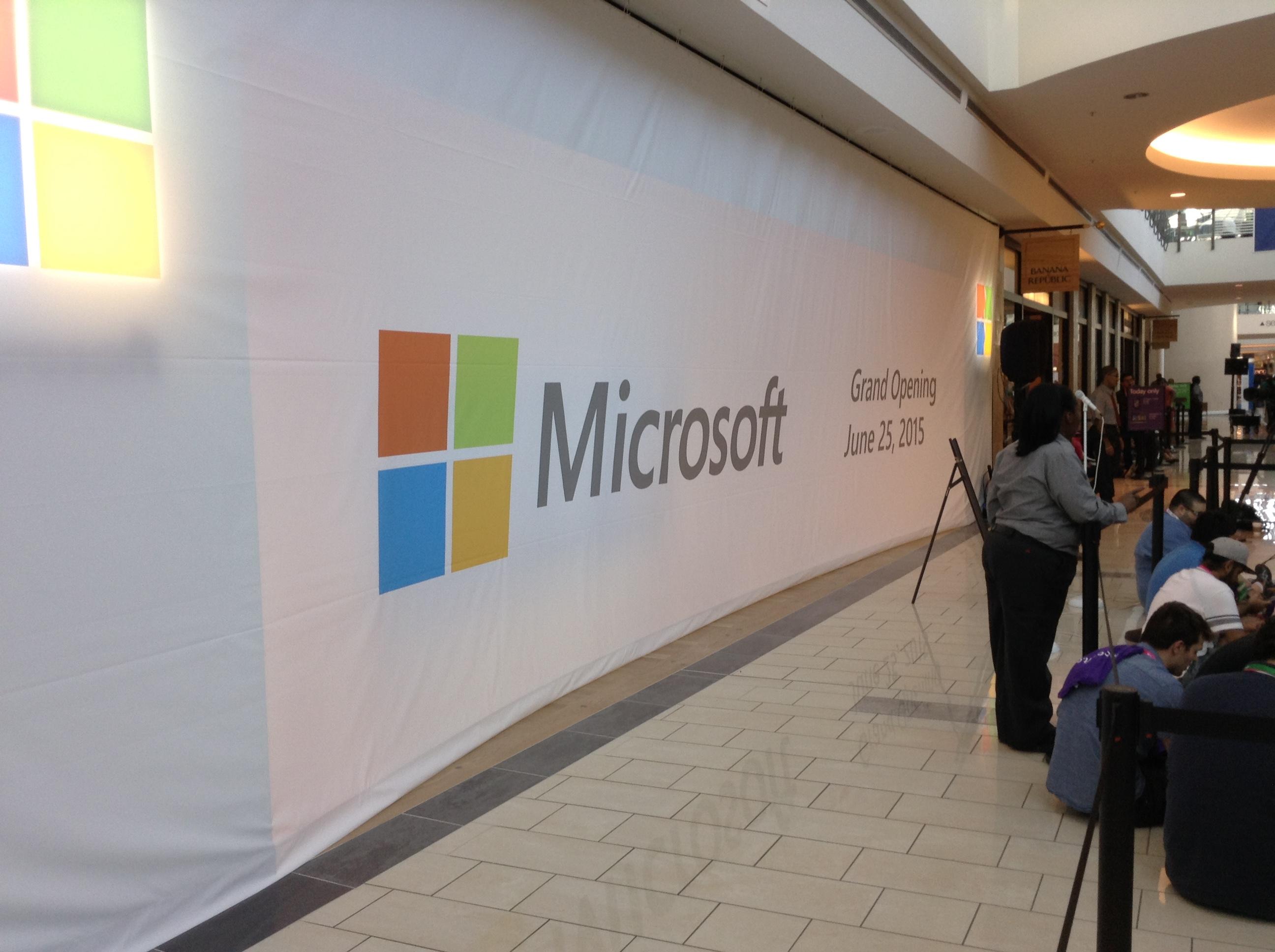 Microsoft Grand Opening