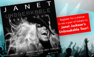 Janet Jackson's Unbreakable Tour Ticket Giveaway
