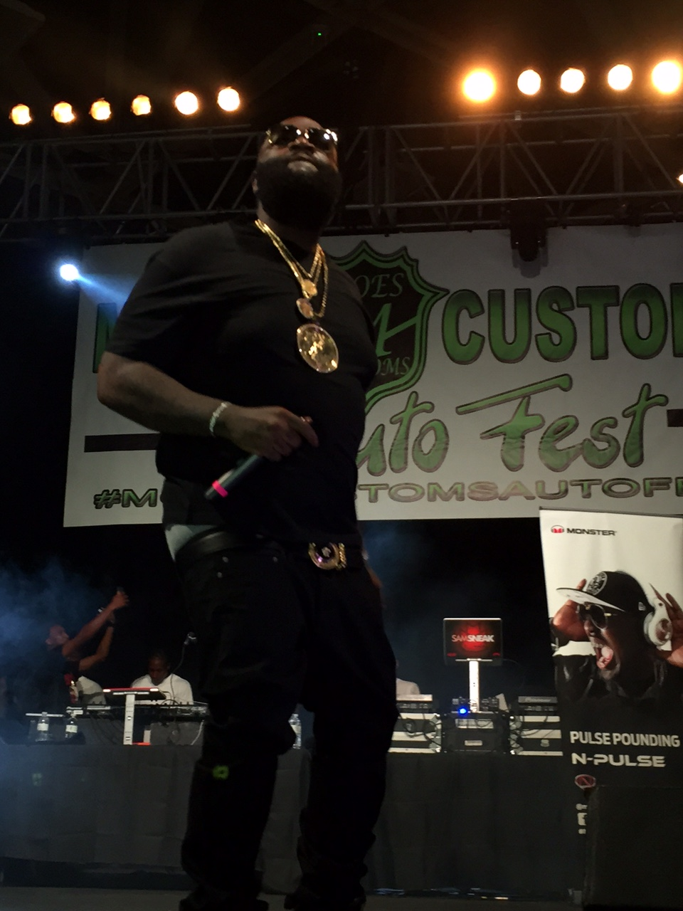 Rick Ross At Moe's Customs Auto Show