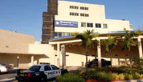 Florida police car at Hollywood Memorial Regional Hospital