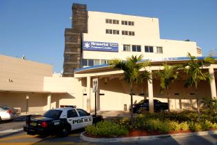 Florida police car at Hollywood Memorial Regional Hospital