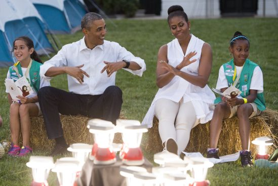 President, First Lady Host Girls Scouts At First-Ever White House Campout
