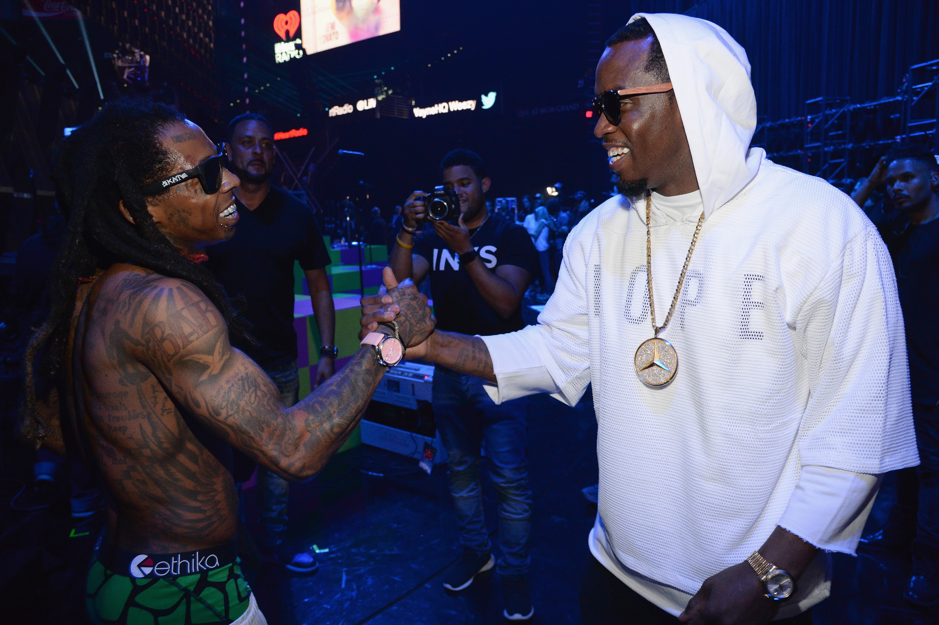 Lil Wayne and Diddy at the 2015 iHeartRadio Music Festival