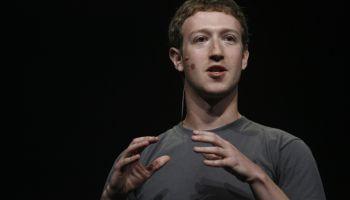 Facebook CEO Mark Zuckerberg delivers a