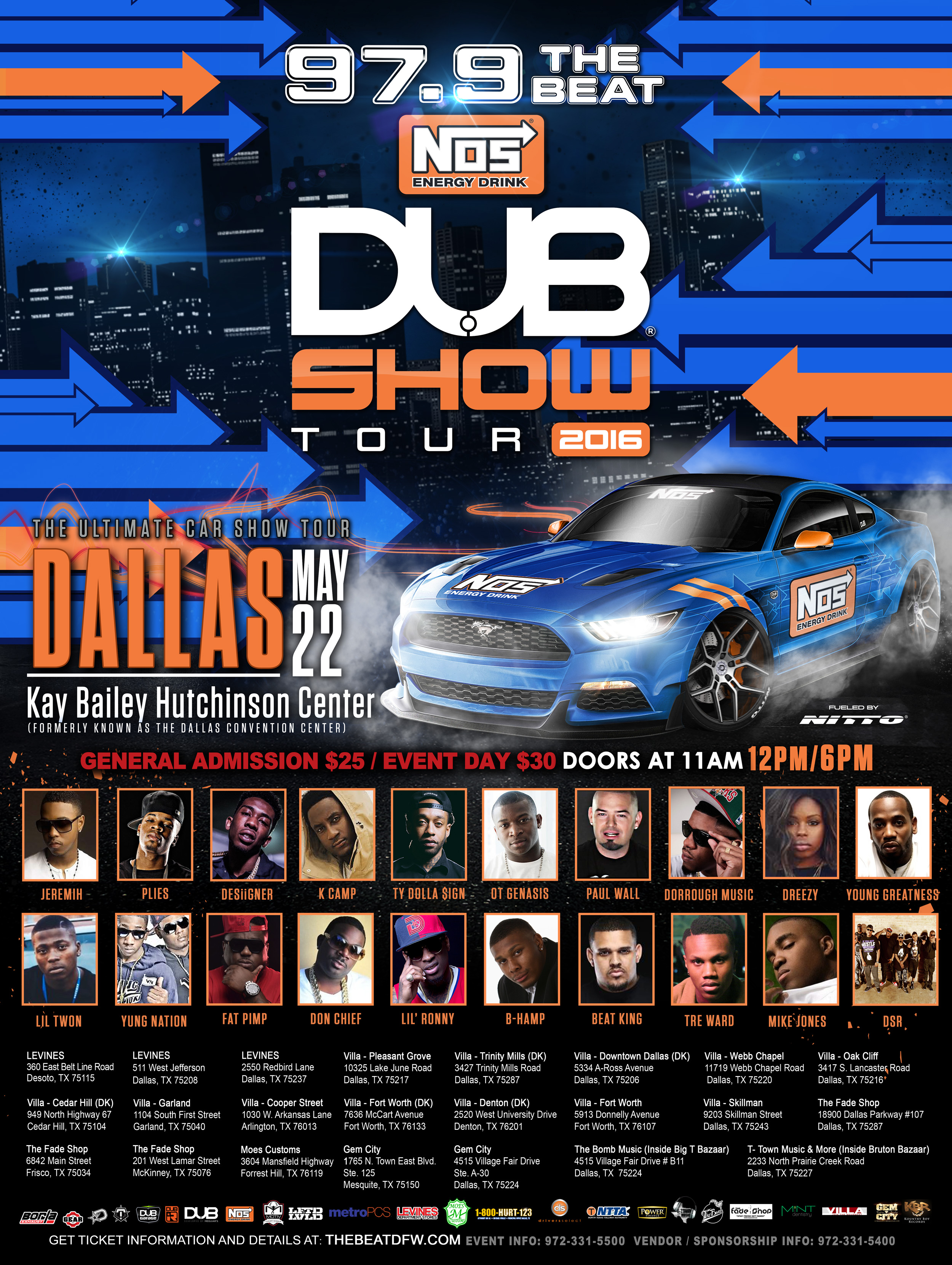Dub Car Show 2016 Flyer