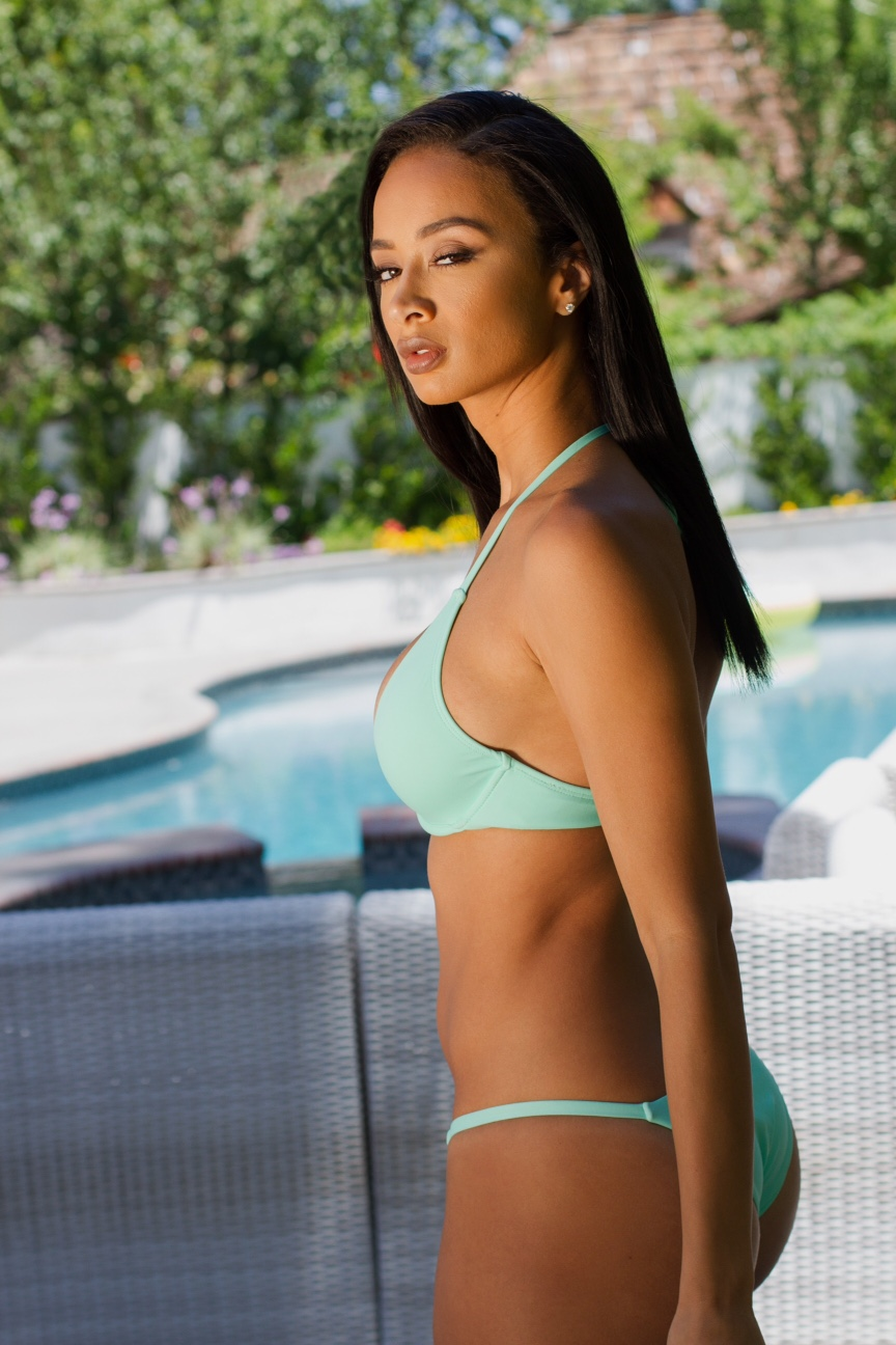 Draya Michele models end of the year Mint Swim releases