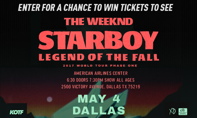 The Weekend STARBOY Legend of the Fall Tour Ticket Giveaway