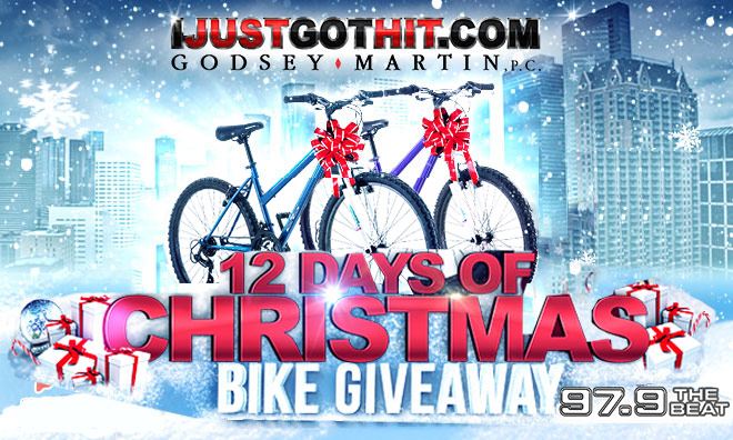 """Local: The Godsey-Martin """"12 Days of Christmas"""" Bike Giveaway_Enter-to-win Contest_KBFB_KSOC_RD_Dallas_November 2016"""