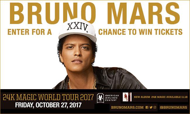Bruno Mars 24k Magic World Tour 2017_Enter-to-win Contest_KBFB_RD_Dallas_November 2016