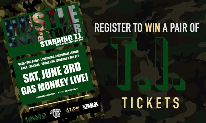 Hustle Gang Tour starring T.I. Ticket Giveaway