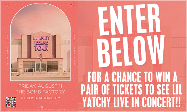 Lil Yatchy Teenage Tour Ticket Giveaway