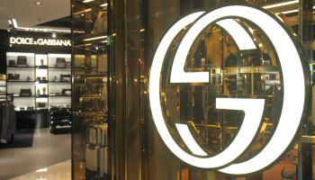 The entrance to Gucci at Frankfurt am Main Airport.