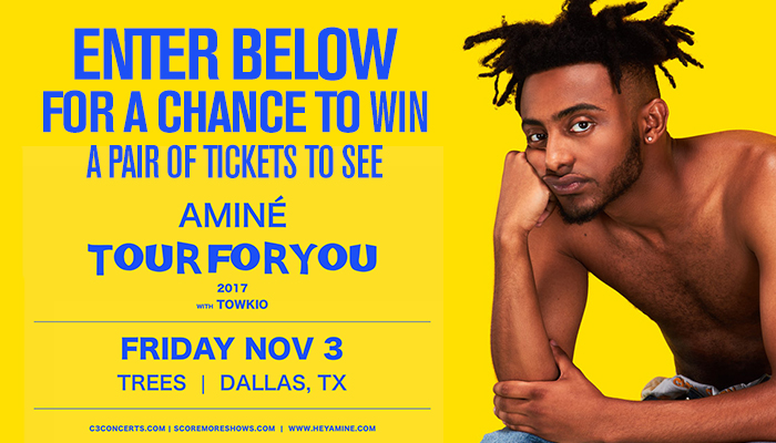 AMINE TOUR FOR YOU TICKET GIVEAWAY-Enter-to-win Contest_KBFB_RD_Dallas_July 2017