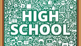 high school School and Education Vector Icons on Chalkboard