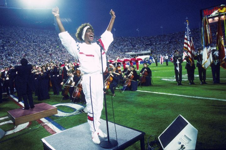 Whitney Houston Sings National Anthem At Super Bowl XXV