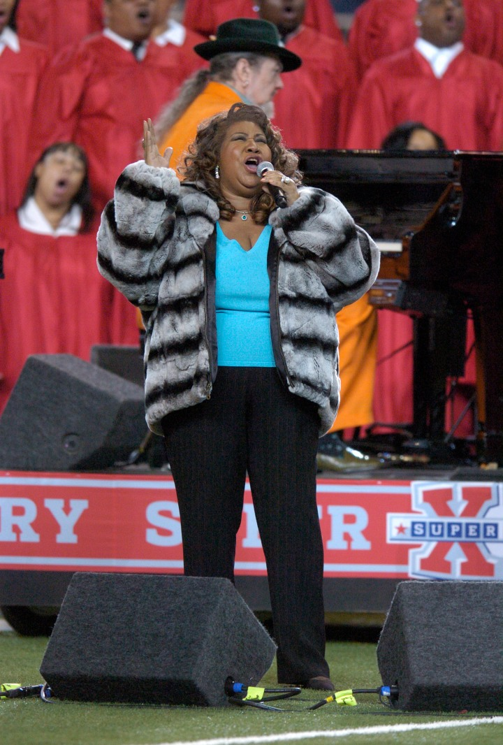 Aretha Franklin – Super Bowl XL – Pittsburgh Steelers v Seattle Seahawks