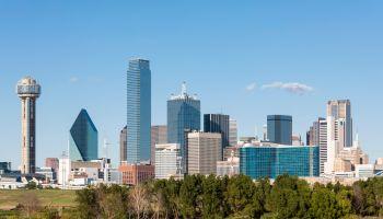 USA, Texas, Dallas, skyline with Reunion Tower