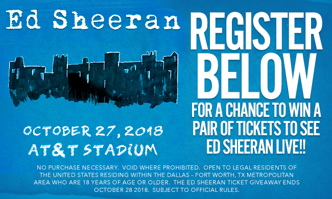 The Ed Sheeran Concert Ticket Giveaway Sweepstakes