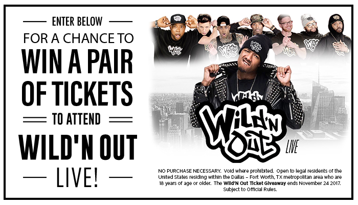 Wild'n Out Live Ticket Giveaway Graphic