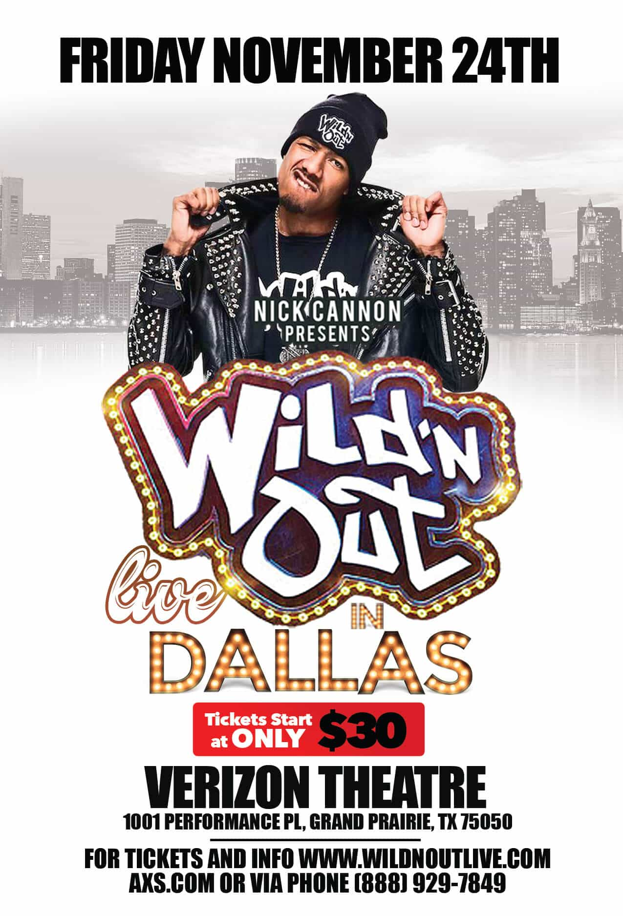 WILD'N OUT LIVE AT VERIZON THEATRE, GRAND PRARIE
