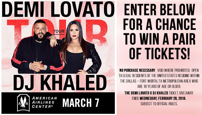 Demi Lovato & DJ Khaled Ticket Giveaway