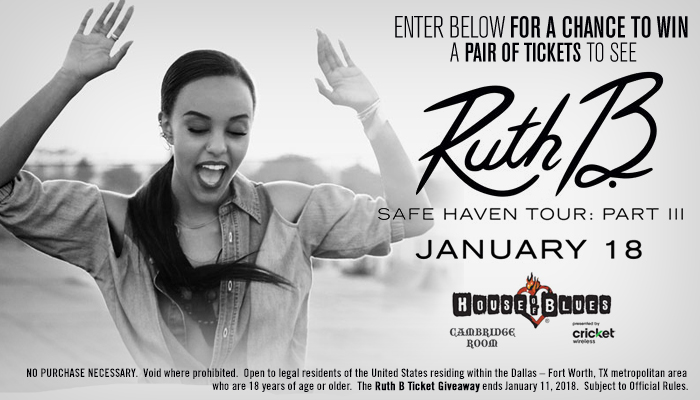 Local: Ruth B Safe Haven Tour: Part III Ticket Giveaway_KBFB_RD_November 2017