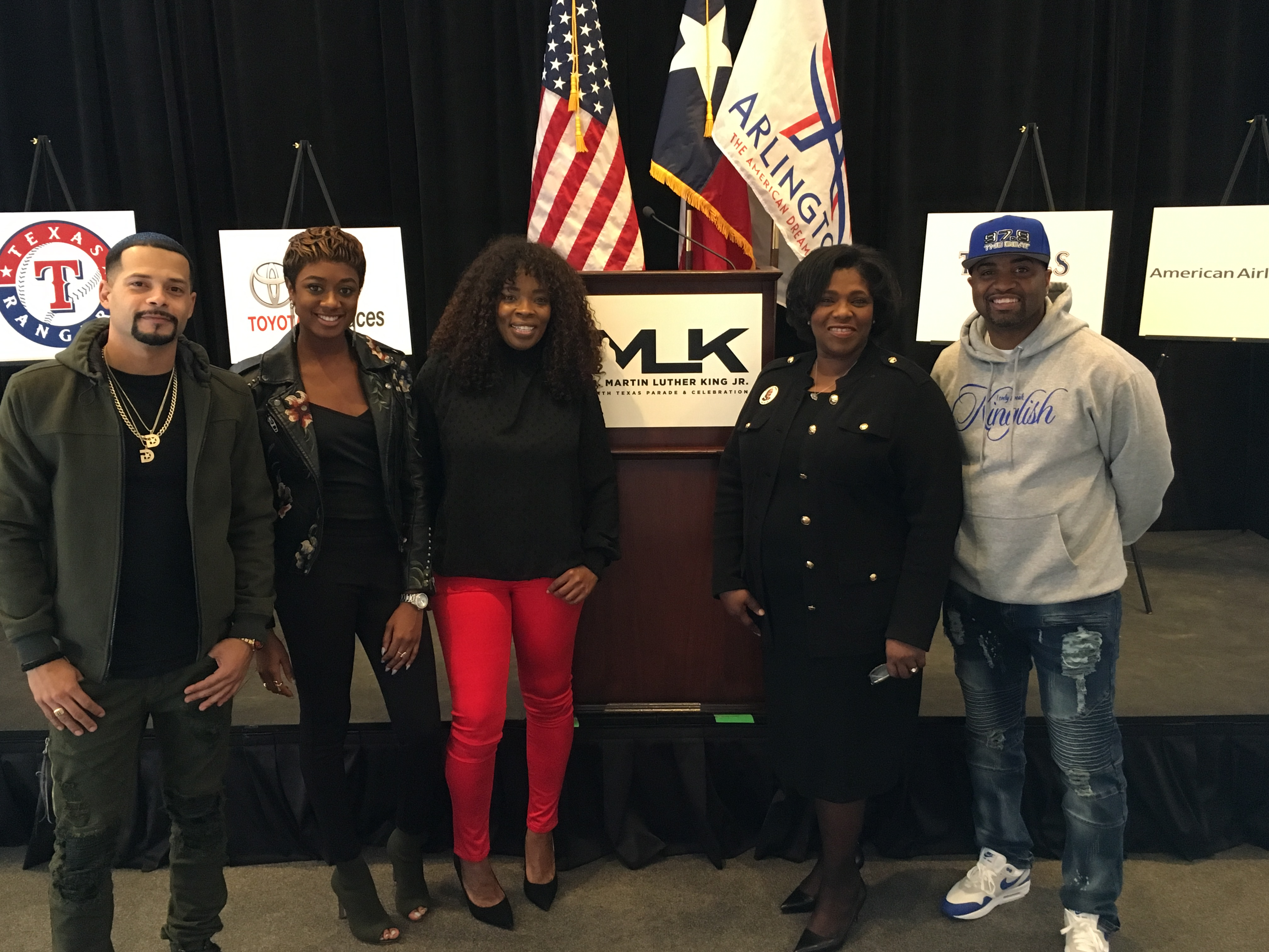Veda Loca In The Morning At North Texas MLK Parade Press Conference