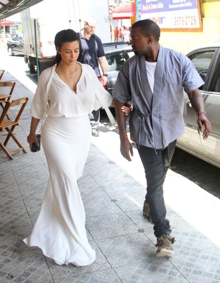 pregnant Kim Kardashian, Kanye West in Rio de Janeiro