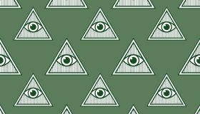 Eye Pyramid Seamless Patern