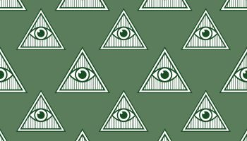 Eye Pyramid Seamless Patern