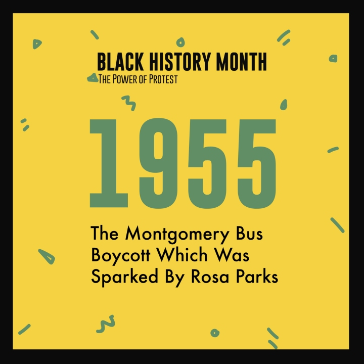 Black History Month 2018 Power Of Protest Timeline