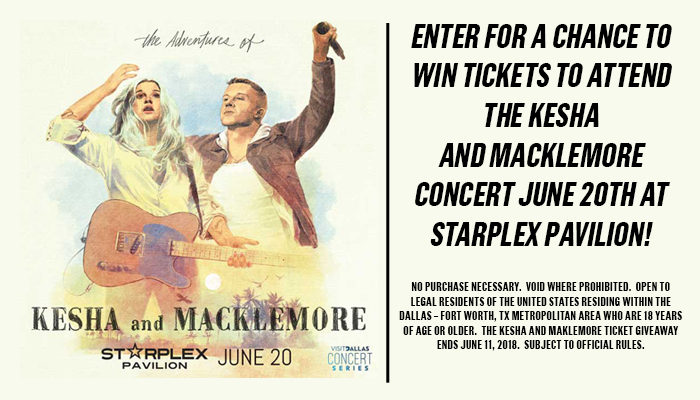 Kesha and Macklemore enter to win