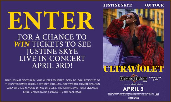 Justine Skye Ticket Giveaway Sweepstakes