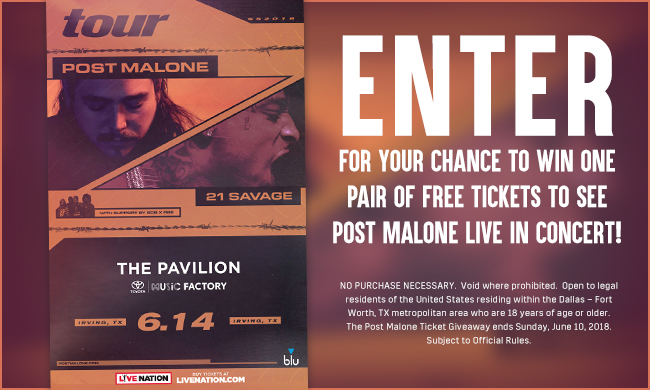 Post Malone Ticket Giveaway Sweepstakes