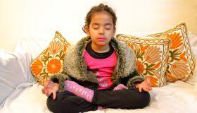 Girl Doing Yoga (Meditation)
