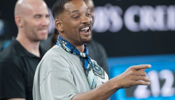 Hollywood actor Will Smith attends the Australian Tennis Open