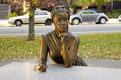 Boston, Massachusetts, Statue Of Poet Phillis Wheatley (1753 ? December 5, 1784), Enslaved At The Age Of Eight, Is Widely Known As The First African-American Woman In United States' History To Have Her Poetry Published.