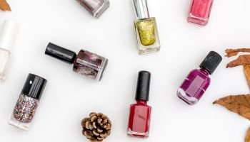 top view nail polish