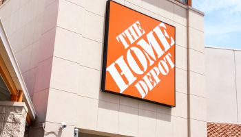 The entrance to the Home Depot in Aventura.