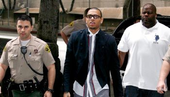 CHRIS BROWN COMING OUT OF THE LA SUPERIOR COURT