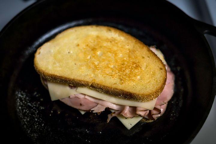 Grilled Ham & Swiss on Sourdough