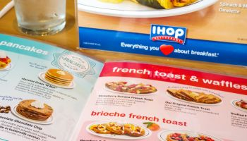 A menu from IHOP in Naples, Florida.