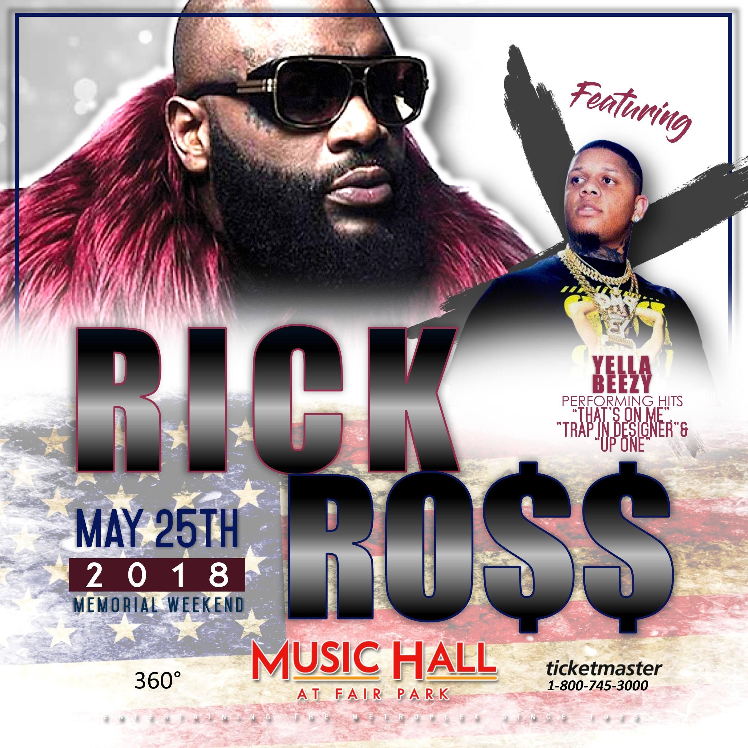 RICK ROSS - 5/25 - MUSIC HALL AT FAIR PARK