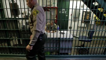 LOS ANGELES, CA – OCT. 3, 2012. Deputies work in a secure section of the Men's Central Jail, where S